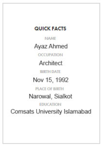 Quick facts about pakistani architect ayaz ahmed